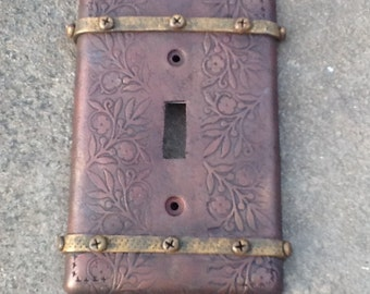 Switch plate cover antique copper gold switch plate cover