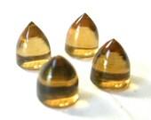 Gemstone Cabochon Honey Quartz 6mm Bullet FOR ONE