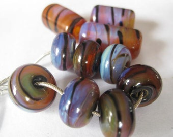 stoursglass  Lampwork Encased Double Helix  Beads