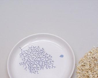 Ceramic plate - coral - sea level