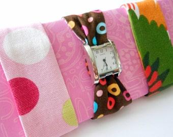 SALE Womens Fabric Watch Set
