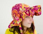 Ruffle Sun Hat Sewing Pattern PDF.  Sizes 0-10 years.