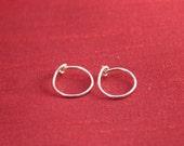 Sterling Silver hoops - 10 mm - Red Kerria Designs