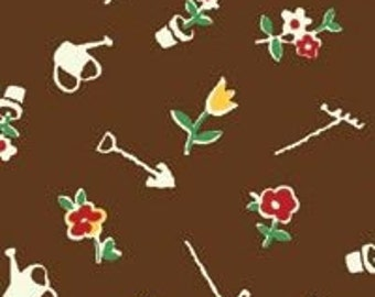 Adeline - Garden Toss - From P&B - Brown - 7.75 Per Yard