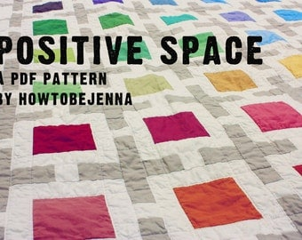 Positive Space Quilting Pattern - Modern Quilt PDF Pattern