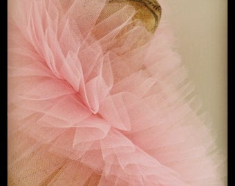 Spun Sugar Pink Rococco Wrap - Tulle Ruffled Bridal Wrap or Collar for Vintage Inspired Wedding