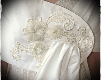 Embellished Ivory bridal Wrap