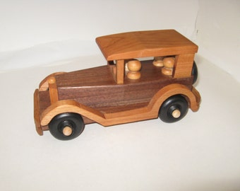 Old Time Wood Toy Sedan