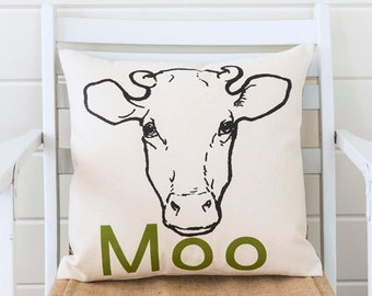 Moo pillow