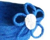 Cornflower Blue Basket - Fabric Coiled