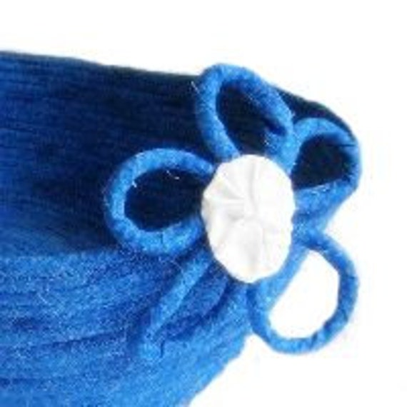 Cornflower Blue Basket - Fabric Coiled