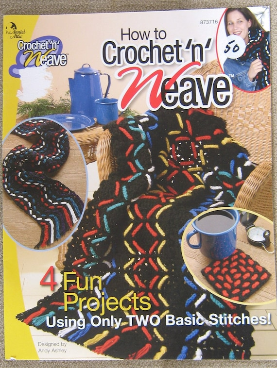 Crochet patterns, weave patterns, Annies Attic Crochet n Weave booklet ...