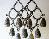 Handmade Ocean Jasper Beaded Dangling Earrings
