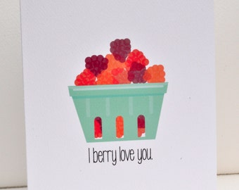 I Berry Love You Greeting Card