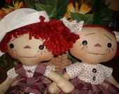 Primitive Raggedy Ann and Andy #155 E-PATTERN Instant Download Hafair Faap