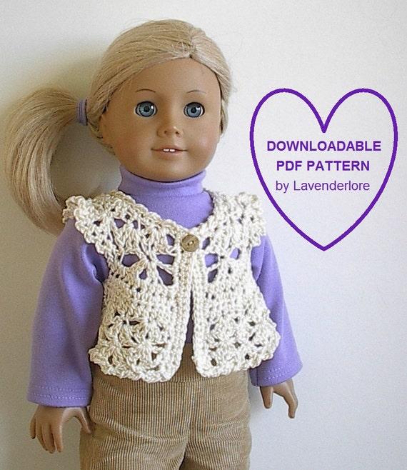 Amigurumi Santa Pattern Free : Dainty Crochet Vest PDF Pattern by Lavenderlore for 18 Inch