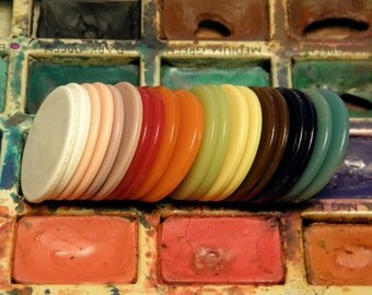 Vintage Game Chip Game Piece Colorful Plastic Tiddly Wink