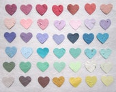 400 Plantable Wedding Favors Hearts Seed Paper Confetti Hearts - Plantable Paper Hearts - Flower Seed Wedding Favor