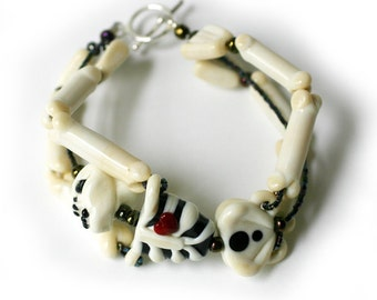 skeleton bracelet glass