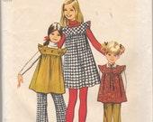 1972 girls jumper tunic pants  size 12 pattern 5168 mod girl