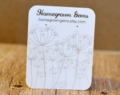 Dandelion- Queen Anne's Lace Earring Cards Customized Product Display Cards
