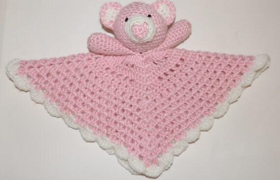 Crochet Pattern for Little Bear Security Blanket Plush