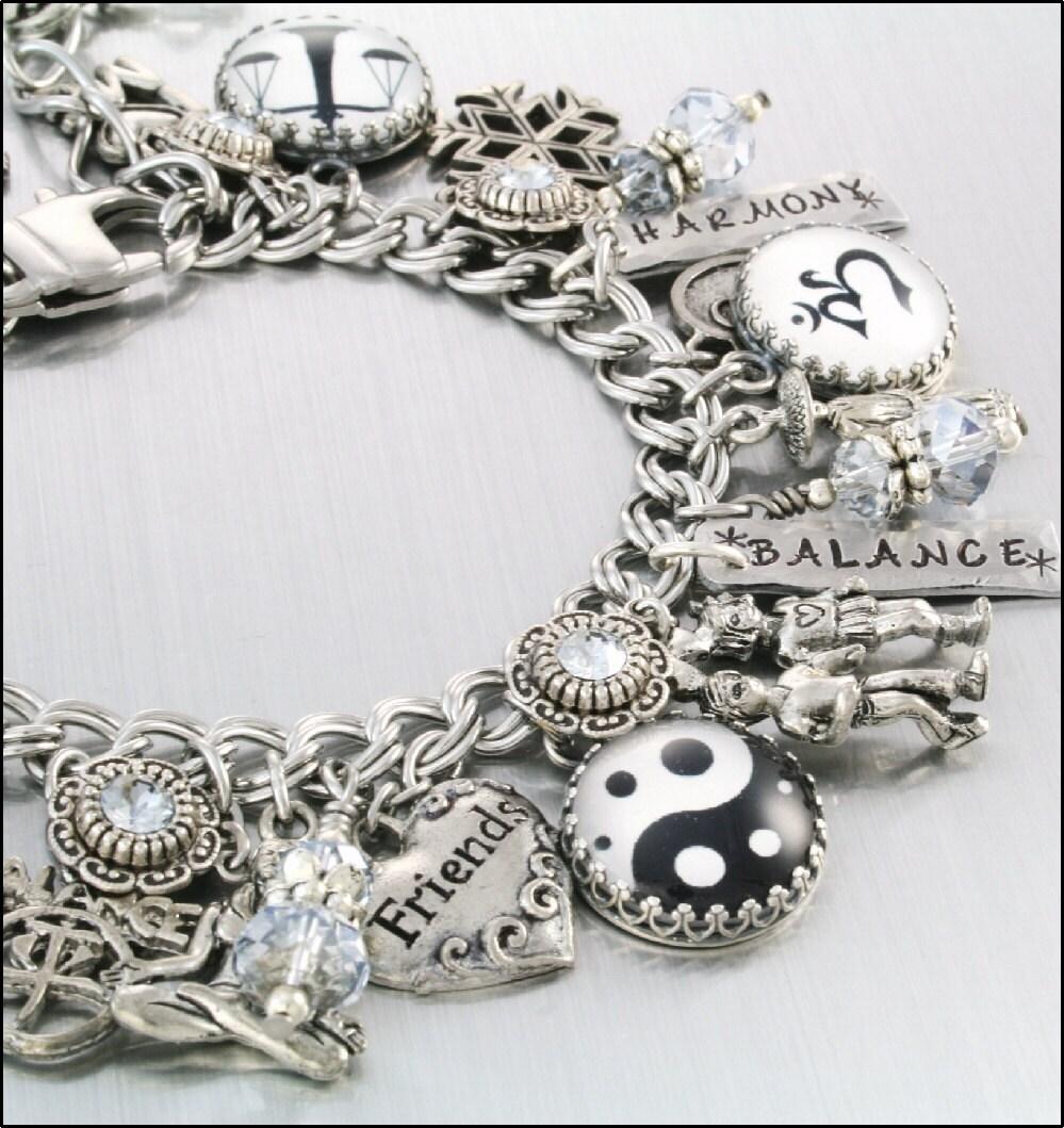 Inspirational Bracelet A Balanced Life Charm By