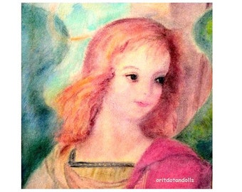 THE ANGEL-blessing card-print of my watercolor painting
