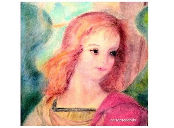 THE ANGEL-Watercolor painting, print of my original painting-Waldorf education arts