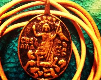 Philippine amulet RESURRECTION DEUS PAGKABUHAY Virgin Mary  Birheng Nagpapasuso pendant Anting Anting talisman agimat