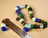 Handmade Textured Recycled Glass Beads