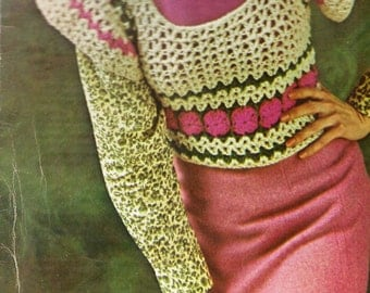 Vintage Crochet Overblouse Pattern