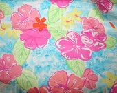 """Lilly Pulitzer fabric """"BLUE HAWAII"""" Rare and Hard to Find  17""""x18"""""""