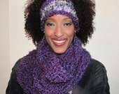 Textured Earwarmers Headband - Special Order - Purple