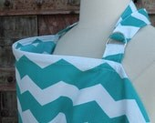Nursing Cover-Teal Chevron-Free Shipping When Purchased With A Wrap