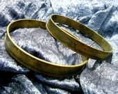 Brass Vintage Bracelet Blanks with 6mm Channel 2 Pcs