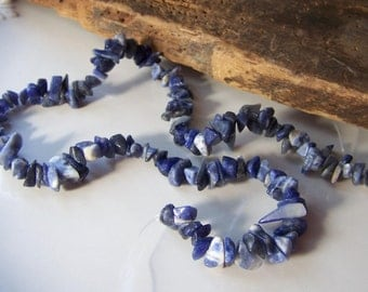Sodalite Chips, Sodalite, Jewelry Supplies, Jewelry Beads, Chip Beads, Blue Beads, Etsy, Etsy Supplies, Etsy Beads,
