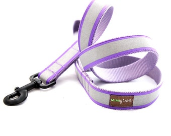 Reflective Dog Leash - 4', 5' or 6' -- 5 colors to choose from