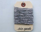 Silver Tinsel String, 6 yards of sparkly, glitter twine for craft projects, gift wrapping