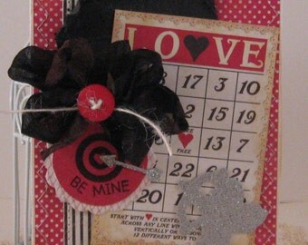 Be Mine - Valentines Day Card and Envelope