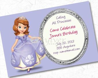 Sophia The 1st - Birthday Invitation - You Print