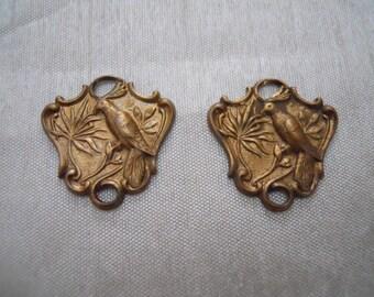 Vintage  Brass Bird Connectors