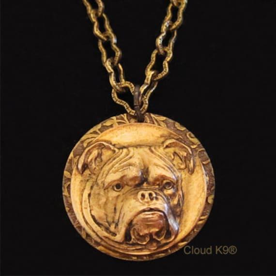 bulldog necklace bulldog jewelry vintage
