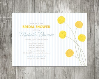 Billy Button Shower/Party Invitation