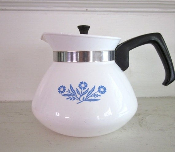 Corningware Cornflower Tea Kettle Stovetop Teapot Corning