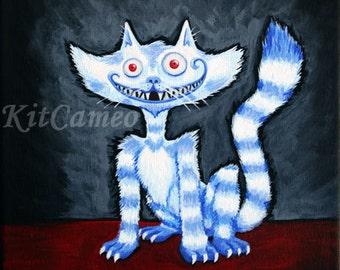 Cheshire Voyeur Cat Art Print