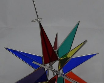 18 Point Multi Color Moravian Star Tree Topper
