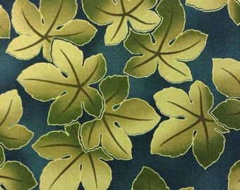 SALE Kona Bay quilt cotton yardage Falling Leaves collection Moss