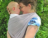 Gauze Baby Wrap - Light Pewter Gray Woven Cotton Non-stretchy Wrap Carrier - 25 colors in shop - includes DVD