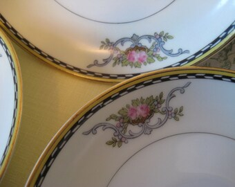 Vintage NORITAKE CAMILLA Plates Saucers Set of 3